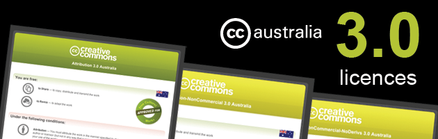 CC Version 3 Australia licences - page banner