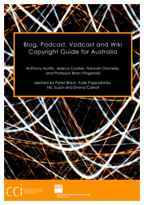 Blog, Podcast, Vodcast and Wiki Copyright Guide for Australia